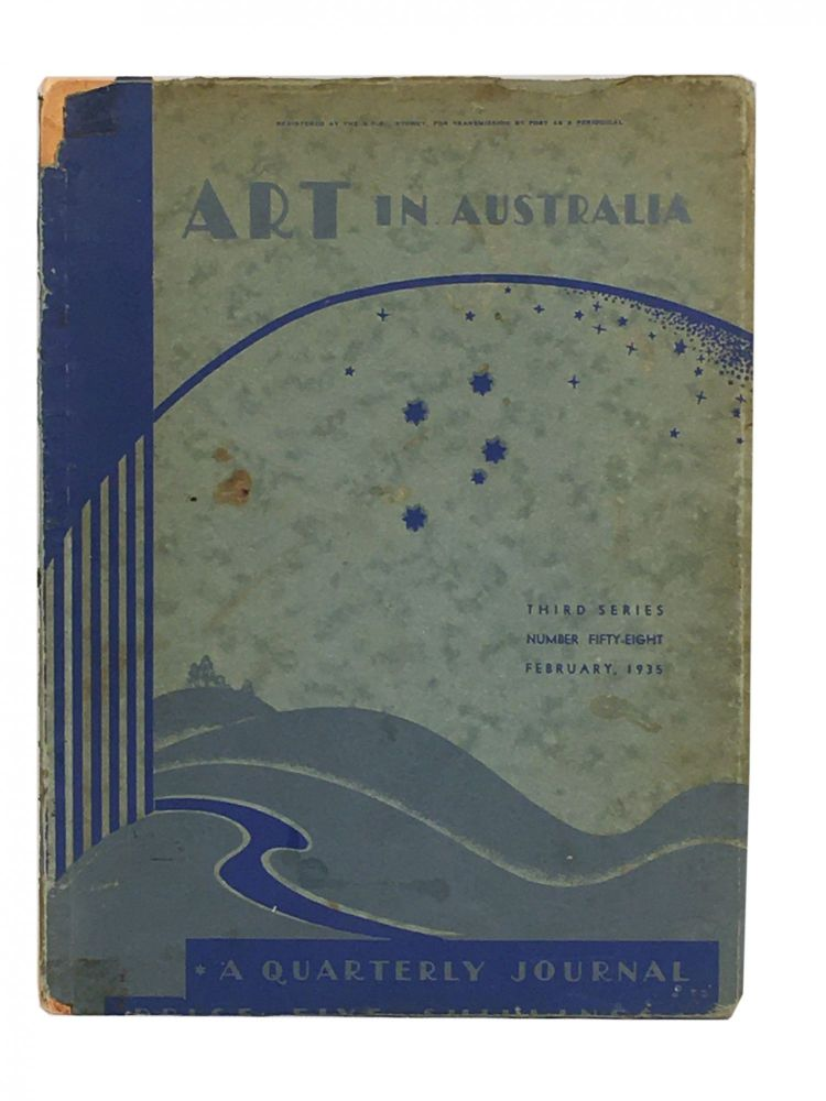 Art in Australia; A Quarterly Journal; A Sydney Morning Herald Publication; Third Series; February; Number 58. Sydney URE SMITH, Leon GELLERT.