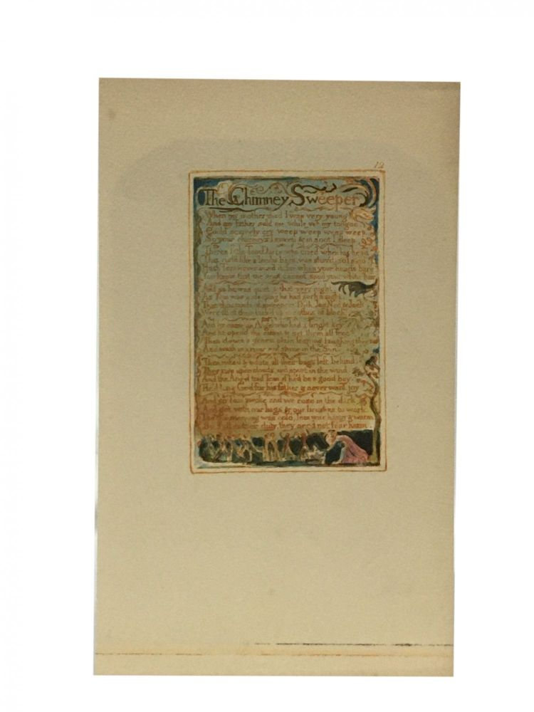 Individual Facsimile Prints from the Trianon Press; Songs of Innocence and of Experience, plate 12. William Blake.