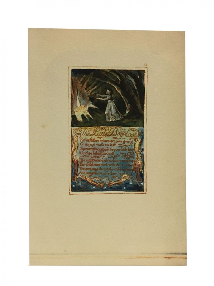 Individual Facsimile Prints from the Trianon Press; Songs of Innocence and of Experience, plate 13. William Blake.