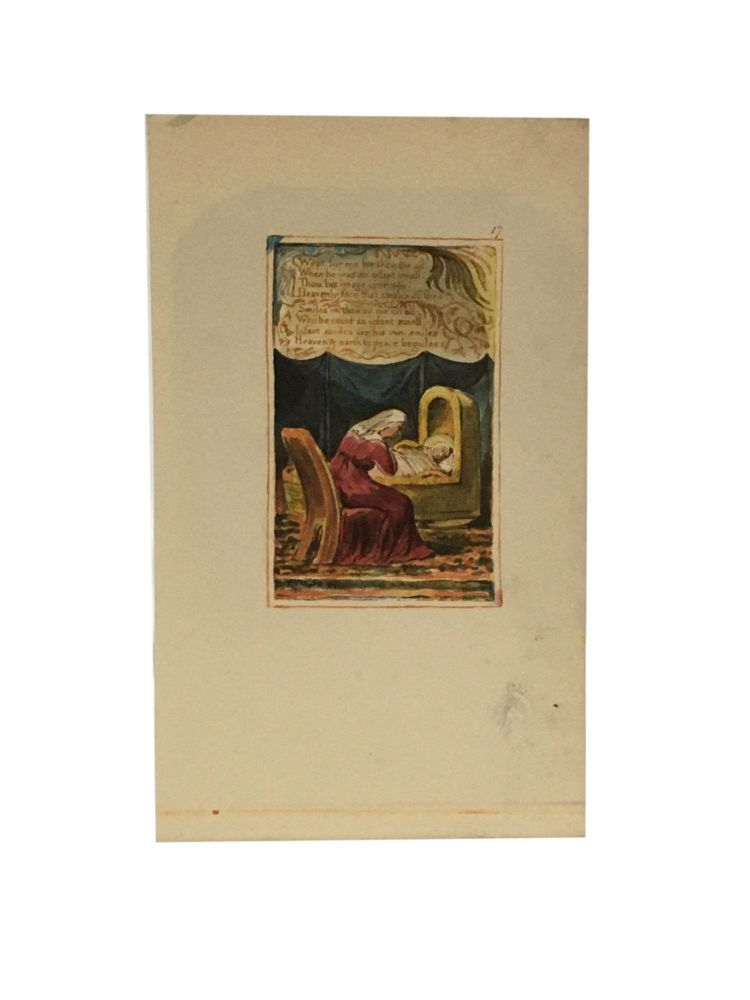 Individual Facsimile Prints from the Trianon Press; Songs of Innocence and of Experience, plate 17. William Blake.