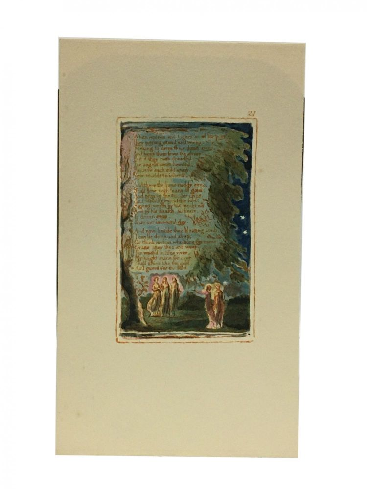 Individual Facsimile Prints from the Trianon Press; Songs of Innocence and of Experience, plate 21. William Blake.