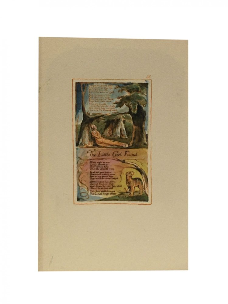 Individual Facsimile Prints from the Trianon Press; Songs of Innocence and of Experience, plate 35. William Blake.