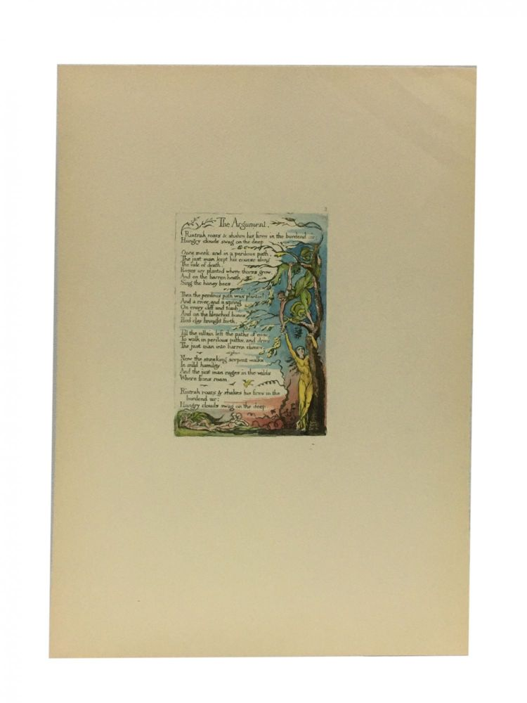 Individual Facsimile Prints from the Trianon Press; The Marriage of Heaven and Hell, plate 2. William Blake.