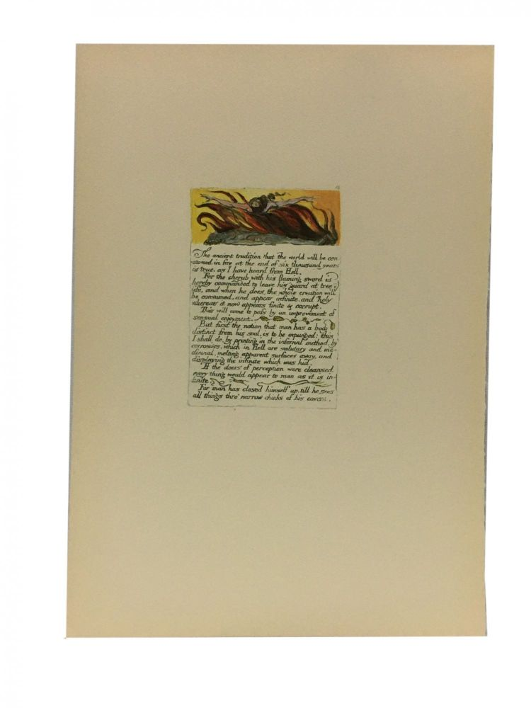 Individual Facsimile Prints from the Trianon Press; The Marriage of Heaven and Hell, plate 14. William Blake.