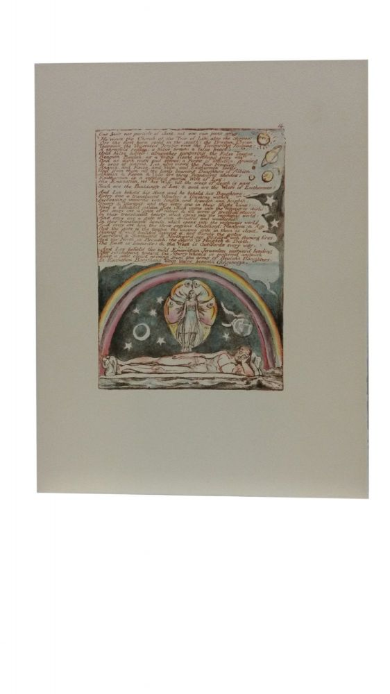 Individual Facsimile Prints from the Trianon Press; Jerusalem, Cunliffe Copy B, plate 14. William Blake.