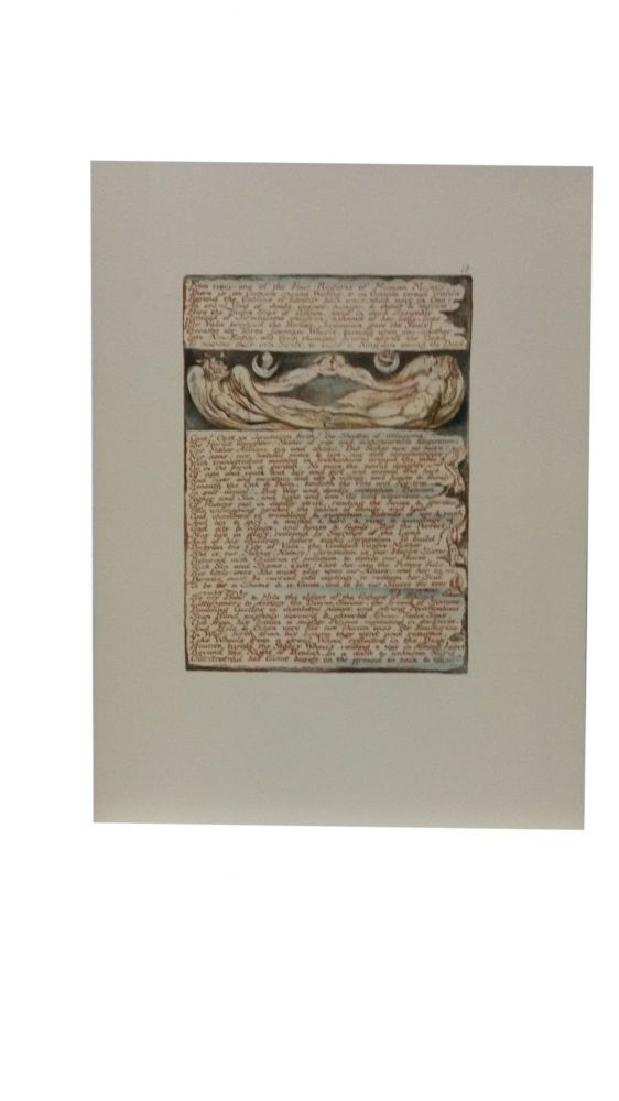 Individual Facsimile Prints from the Trianon Press; Jerusalem, Cunliffe Copy B, plate 18. William Blake.
