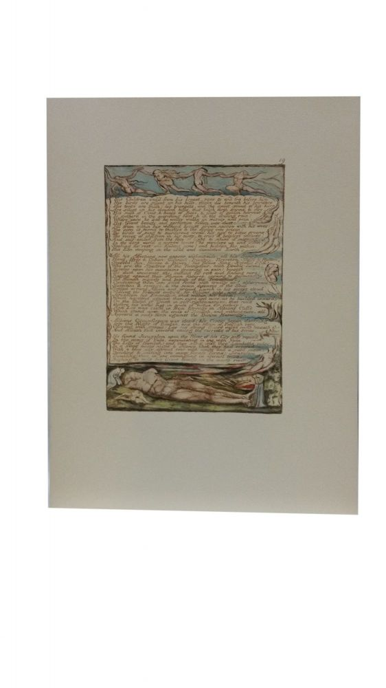 Individual Facsimile Prints from the Trianon Press; Jerusalem, Cunliffe Copy B, plate 19. William Blake.