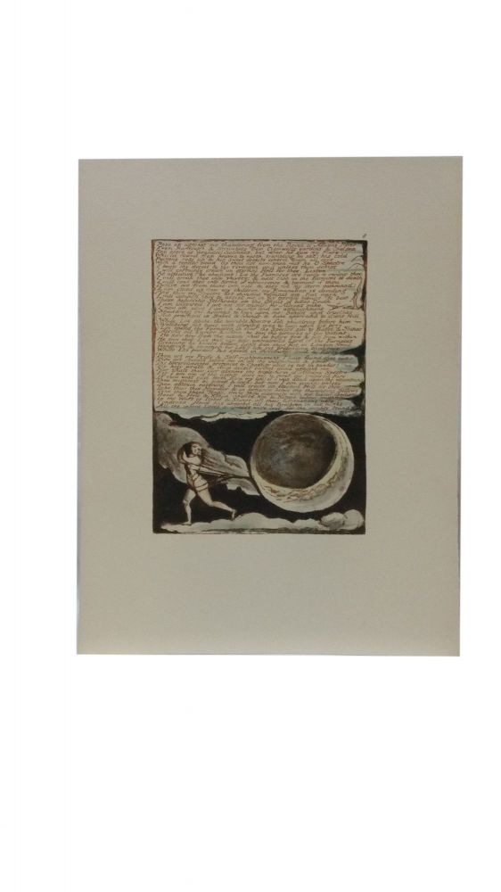 Individual Facsimile Prints from the Trianon Press; Jerusalem, Cunliffe Copy B, plate 8. William Blake.