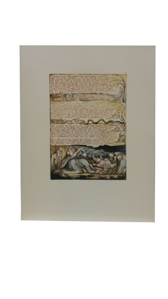 Individual Facsimile Prints from the Trianon Press; Jerusalem, Cunliffe Copy B, plate 9. William Blake.