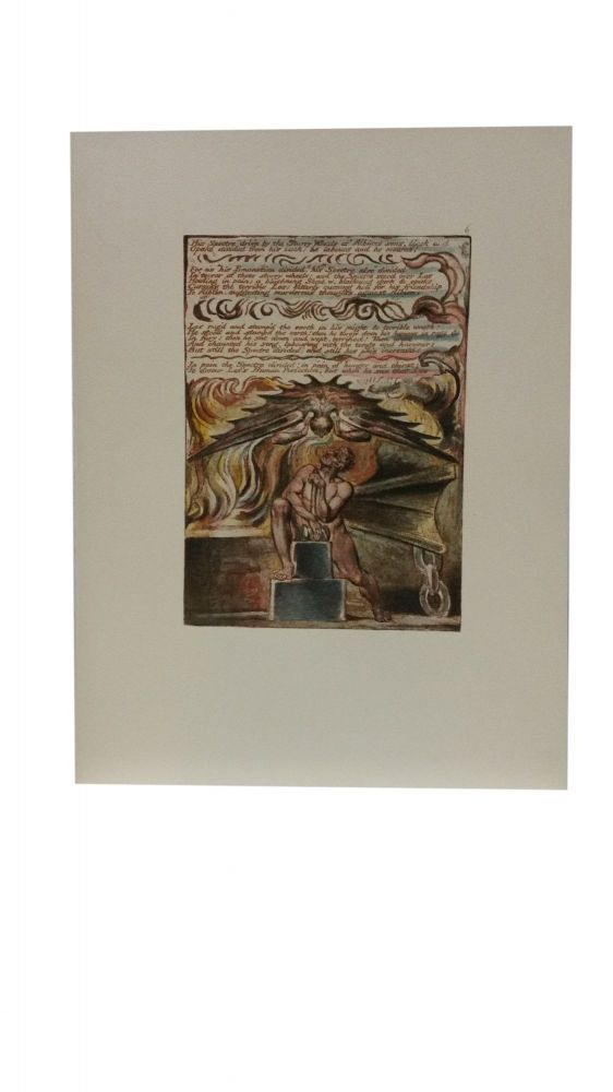 Individual Facsimile Prints from the Trianon Press; Jerusalem, Cunliffe Copy B, plate 6. William Blake.