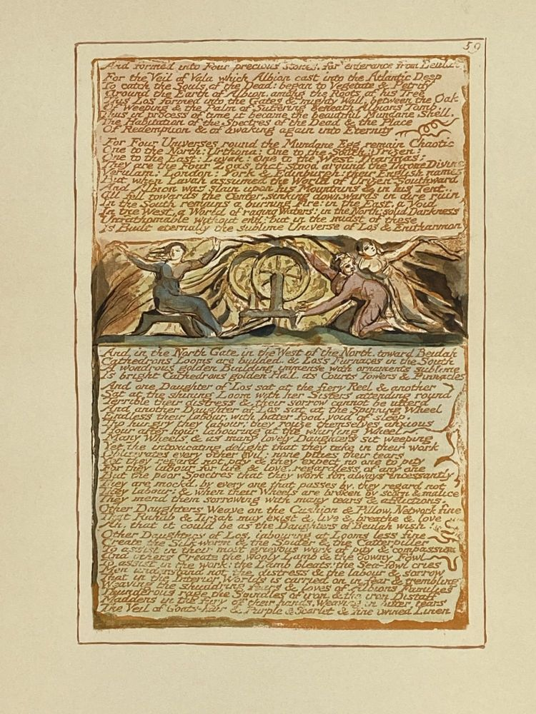 Individual Facsimile Prints from the Trianon Press; Jerusalem, Sterling Copy E, plate 59. William Blake.