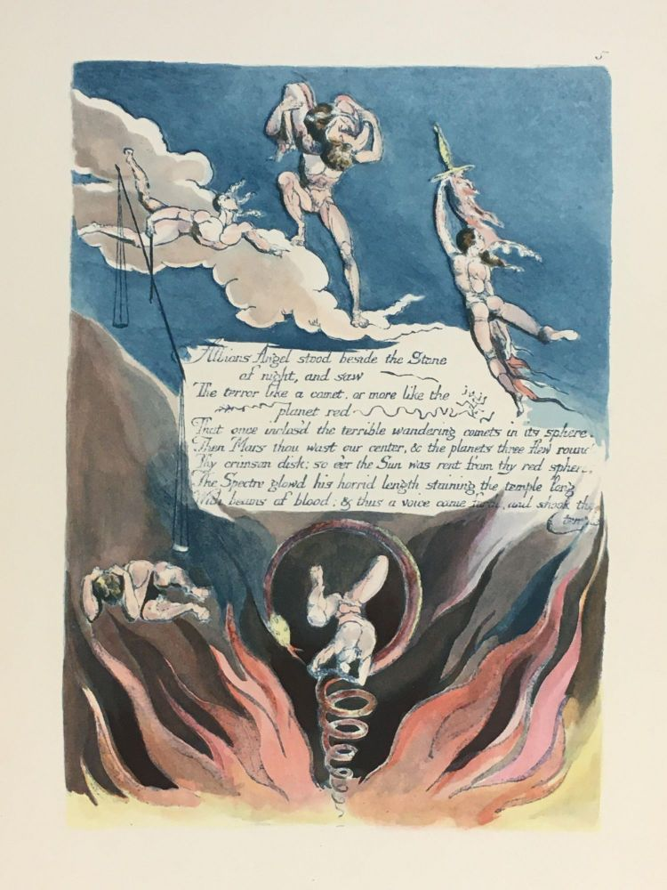 Individual Facsimile Prints from the Trianon Press; America A Prophecy, plate 5. William Blake.