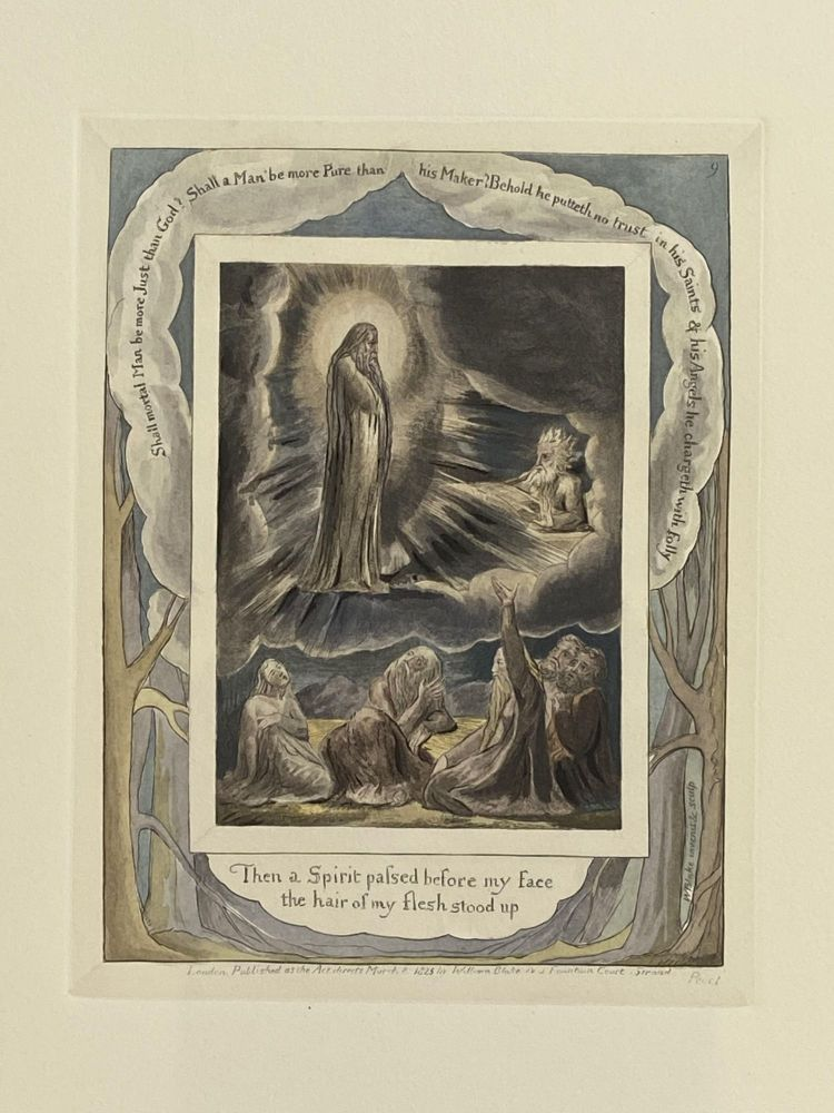 Individual Facsimile Prints from the Trianon Press; The Book of Job, plate 9. William Blake.