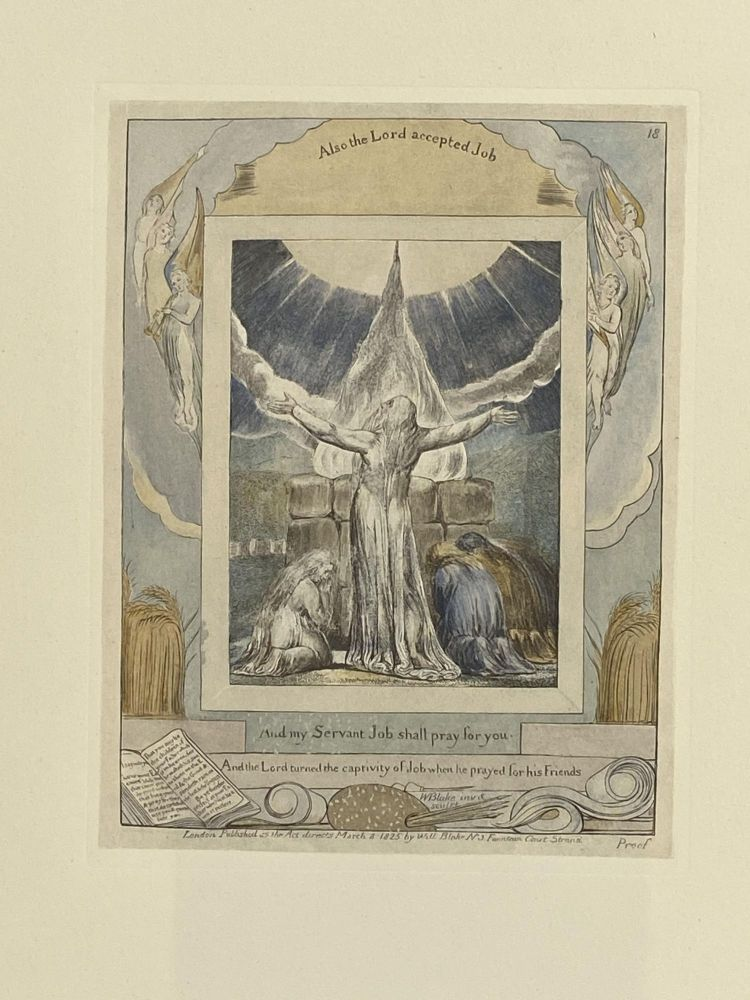 Individual Facsimile Prints from the Trianon Press; The Book of Job, plate 18. William Blake.