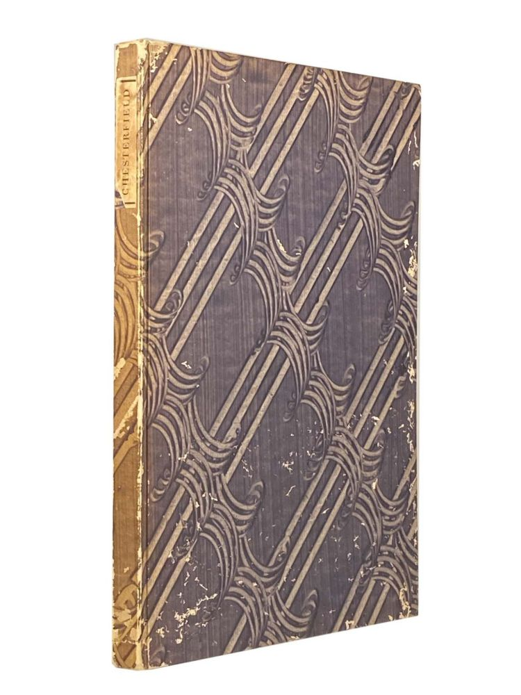 The Poetical Works Of Philip Dormer Stanhope Earl of Chesterfield. CHESTERFIELD.