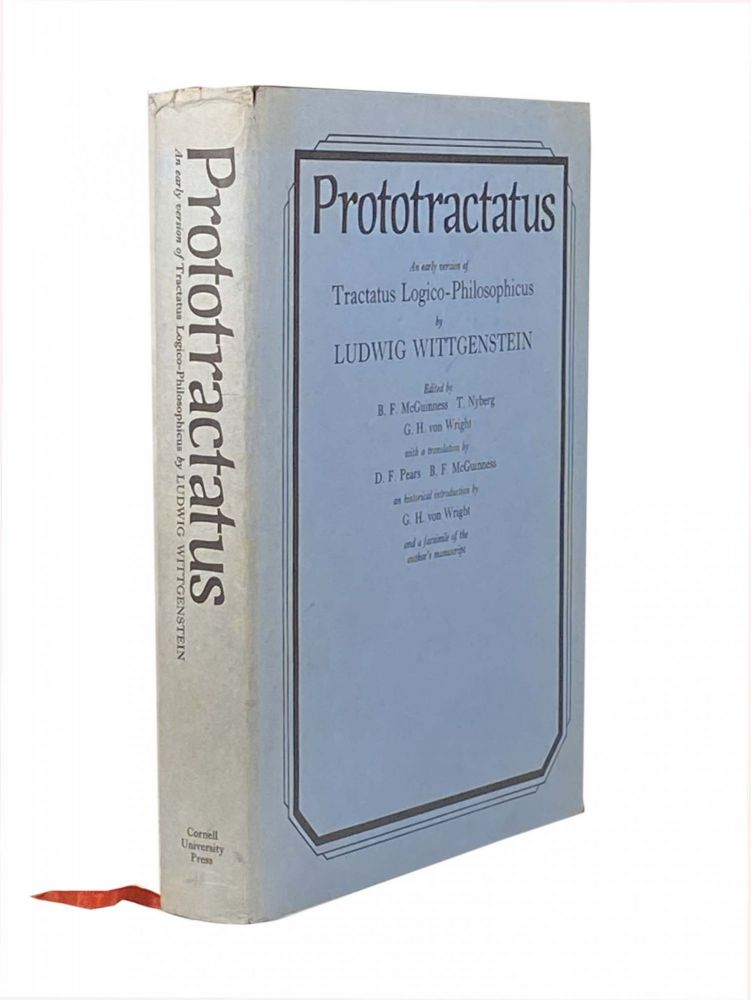 Prototractatus ; An Early Version of Tractatus Logico-Philosophicus by Ludwig Wittgenstein. Ludwig WITTGENSTEIN, MCGUINESS. B. F., WRIGHT G. H. Von, T. NYBERG.