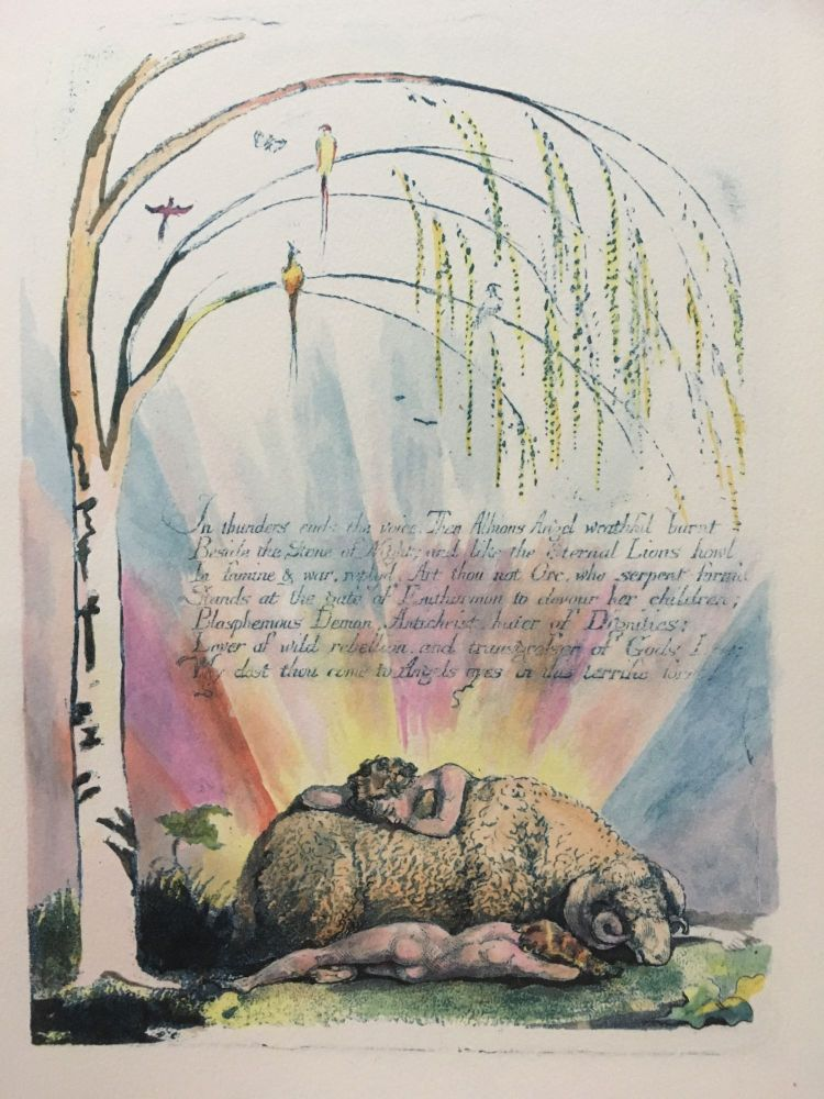 Individual Facsimile Prints from the Trianon Press. William Blake.