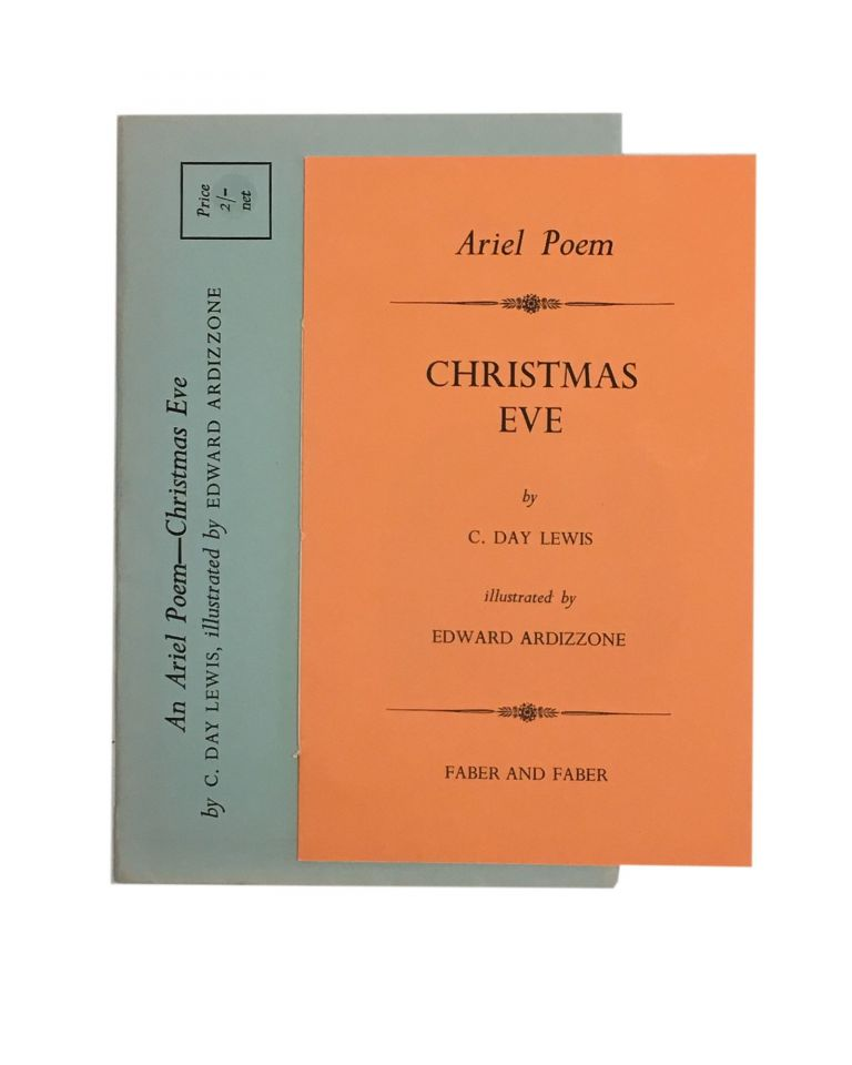 Christmas Eve Poem.An Ariel Poem Christmas Eve Illustrated By Edward Ardizozone By C Day Lewis On Archives Fine Books