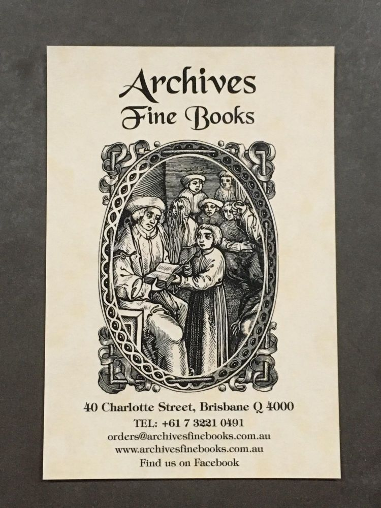 GIFT VOUCHER. Archives Fine Books.