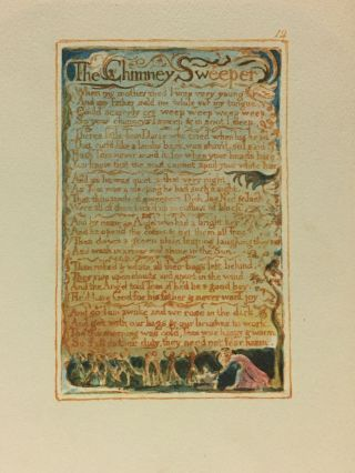 Individual Facsimile Prints from the Trianon Press; Songs of Innocence and of Experience, plate 12