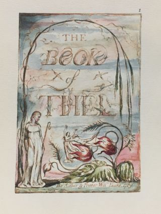 Individual Facsimile Prints from the Trianon Press; The Book of Thel, plate 1