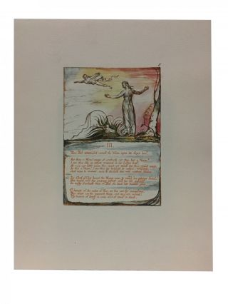 Individual Facsimile Prints from the Trianon Press; The Book of Thel, plate 3. William Blake