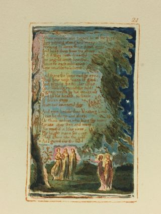 Individual Facsimile Prints from the Trianon Press; Songs of Innocence and of Experience, plate 21