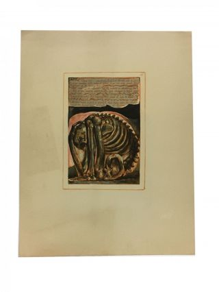 Individual Facsimile Prints from the Trianon Press; Urizen, plate 10. William Blake