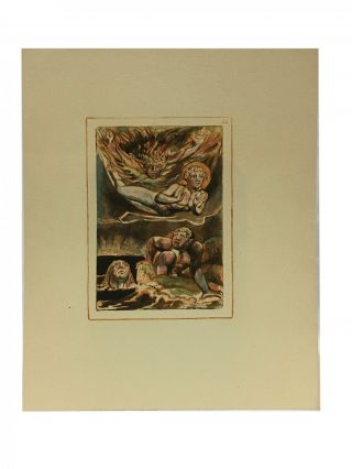 Individual Facsimile Prints from the Trianon Press; Urizen, plate 24. William Blake