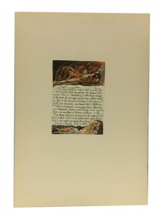 Individual Facsimile Prints from the Trianon Press; The Marriage of Heaven and Hell, plate 3....