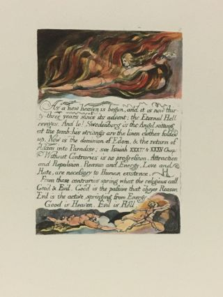 Individual Facsimile Prints from the Trianon Press; The Marriage of Heaven and Hell, plate 3