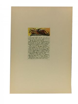 Individual Facsimile Prints from the Trianon Press; The Marriage of Heaven and Hell, plate 14....