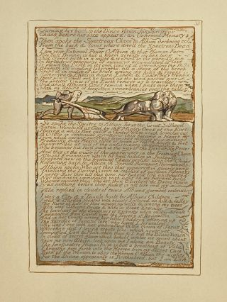 Individual Facsimile Prints from the Trianon Press; Jerusalem, Sterling Copy E, plate 33. William...
