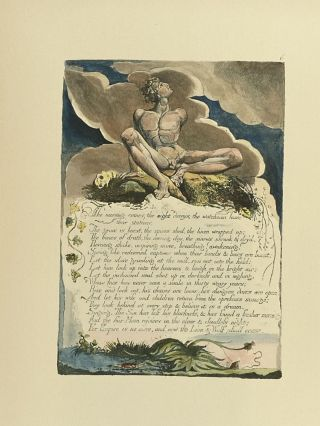 Individual Facsimile Prints from the Trianon Press; America A Prophecy, plate 6. William Blake