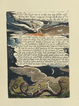 Individual Facsimile Prints from the Trianon Press; America A Prophecy, plate 11. William Blake