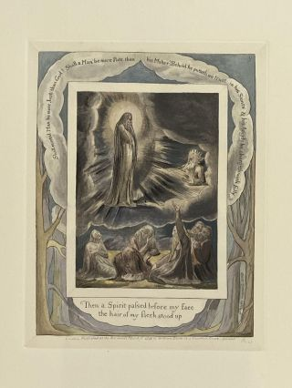 Individual Facsimile Prints from the Trianon Press; The Book of Job, plate 9. William Blake