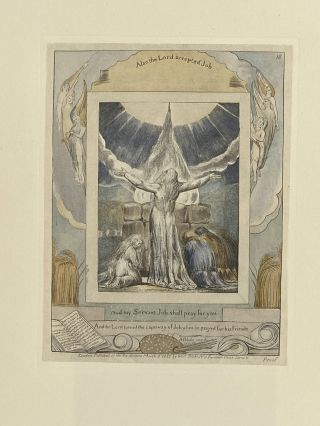 Individual Facsimile Prints from the Trianon Press; The Book of Job, plate 18. William Blake