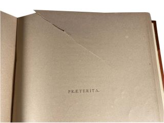Praeterita; Outlines of scenes and thoughts perhaps worthy of memory in my past life