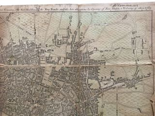 The LONDON DIRECTORY, or a New & Improved PLAN of LONDON, WESTMINSTER & SOUTHWARK, 1783; With the adjacent County, the New Buildings, the New Roads, and the late alterations by Opening of New Streets & Widening of others.