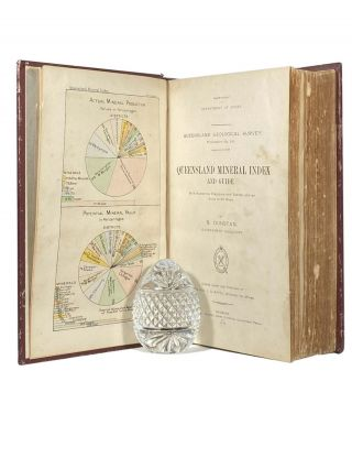 Queensland Mineral Index and Guide.; With numerous diagrams and tables and an atlas of 36 maps