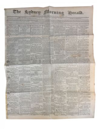 The Sydney Morning Herald 1845. Daylight Robbery at Berrima!