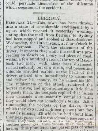 The Sydney Morning Herald 1845.
