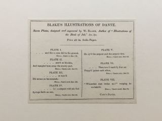 Blake's Illustrations of Dante