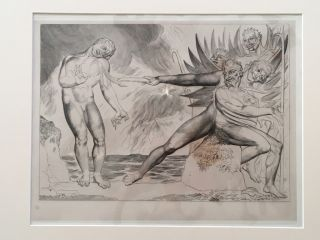 "Blake's Illustrations of Dante. Plate 2:""Circle of the Corrupt Officilas, the Devil's torturing..."