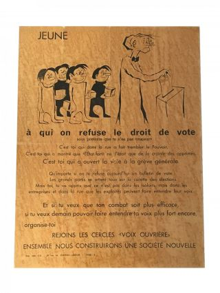 """Jeune à qui on refuse le droit de vote"" Paris 1968"