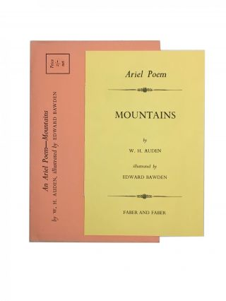 An Ariel Poem - Mountains; illustrated by Edward Bawden. W. H. Auden