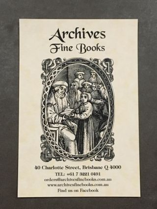 GIFT VOUCHER. Archives Fine Books